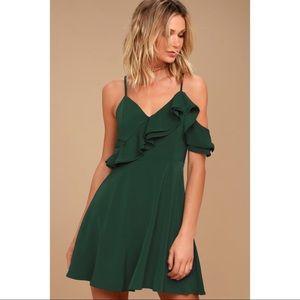 J.O.A. Henriette Forest Green Skater Dress